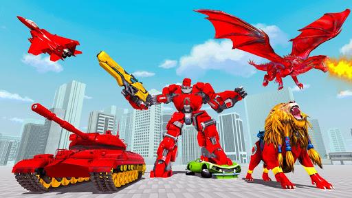 Tank Robot Car Games - Multi Robot Transformation  screenshots 1
