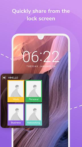HiHello: Digital Business Card Maker and Organizer android2mod screenshots 7