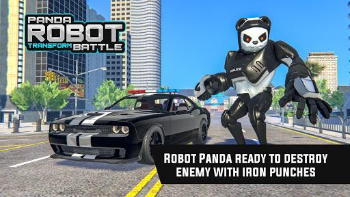Police Panda Robot Car Transform: Flying Car Games  screenshots 7