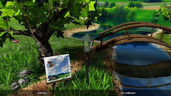 Parallax Nature: Summer Day XL 3D Gyro Wallpaper Screenshot