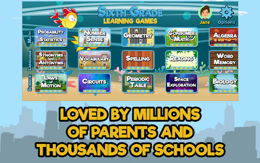 Sixth Grade Learning Games 5.2 screenshots 4
