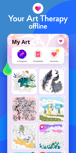 Painting games: Adult Coloring Books, Drawings 2.1.0 screenshots 8