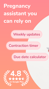 Pregnancy due date tracker with contraction timer 1.23.0 Screenshots 1