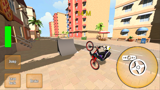 Wheelie Bike 3D - BMX stunts wheelie bike riding apkpoly screenshots 1
