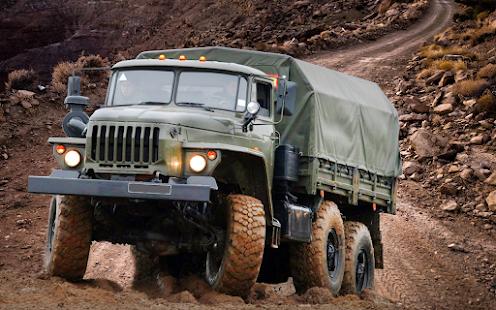 US Army Transporter Truck: Cargo Truck Simulation