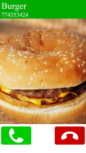 fake call burger game 6.0 screenshots 1