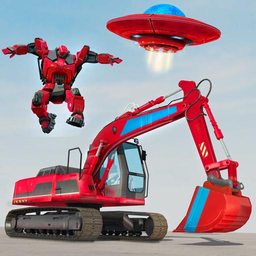 Game mobil robot excavator - game robot gajah