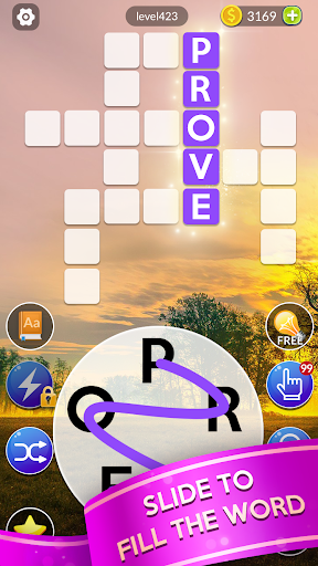 word slide - free word games & crossword puzzle screenshot 1
