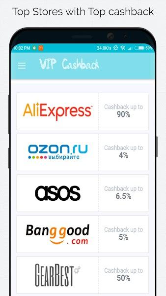 AliCashback - Cashback for 1000 stores