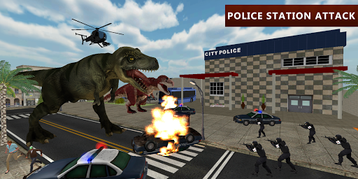 Dinosaur Simulator City Attack 1.3 screenshots 1