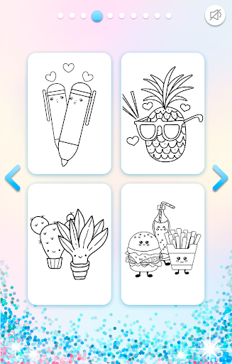 Kawaii Coloring Book Glitter modavailable screenshots 9