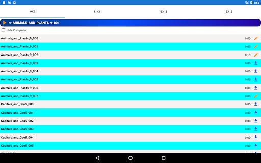 Fill it ins word puzzles - free crosswords screenshots 12