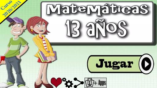 Matemáticas 13 años 1.0.18 screenshots 1