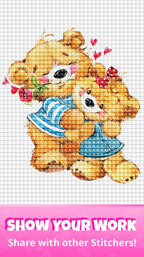 Cross Stitch Gold: Color By Number, Sewing pattern  screenshots 8