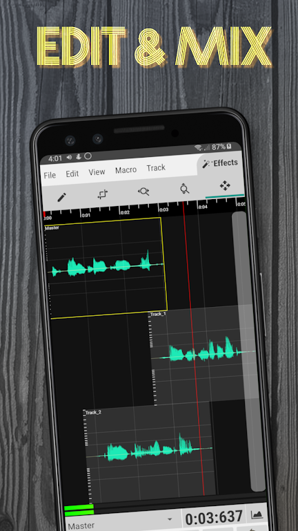 WaveEditor for Android™ Audio Recorder & Editor poster 0