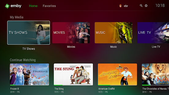 Emby for Android TV Screenshot