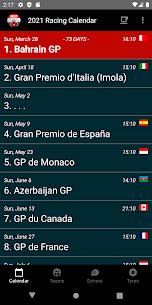 Racing Calendar 2021 (No Ads) 3.3 Apk 1