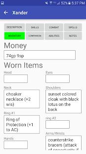 Character Sheet (3.5) screenshots 3