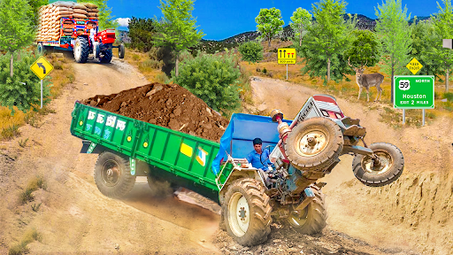 Real Cargo Tractor Trolley Farming Simulation Game  screenshots 5