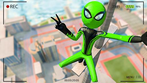 Flying Stickman Rope Hero  screenshots 12