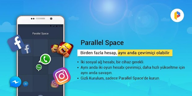 Parallel Space-Çoklu hesap Screenshot
