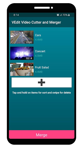VEdit Video Cutter and Merger android2mod screenshots 5
