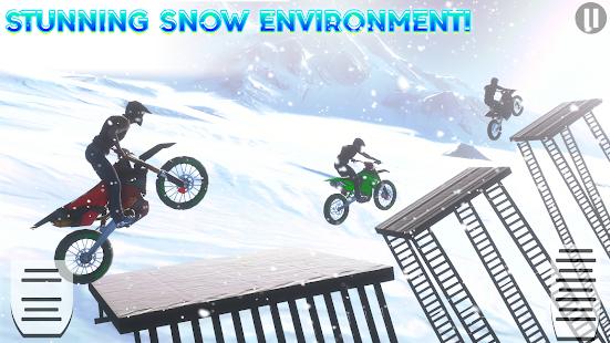 Snow Tricky Bike Impossible Track Stunts 2021 1.6 Screenshots 6