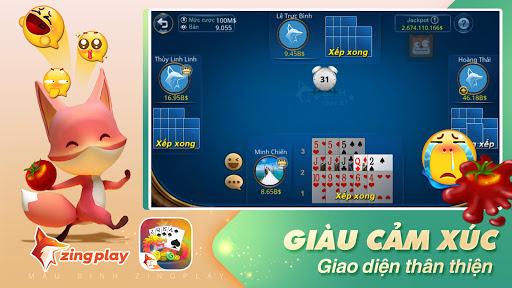 Poker VN - Mu1eadu Binh u2013 Binh Xu1eadp Xu00e1m - ZingPlay screenshots 3