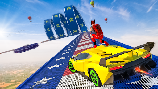 Superhero Mega Ramps: GT Racing Car Stunts Game androidhappy screenshots 2