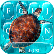 Blue Sea Turtle Keyboard Theme
