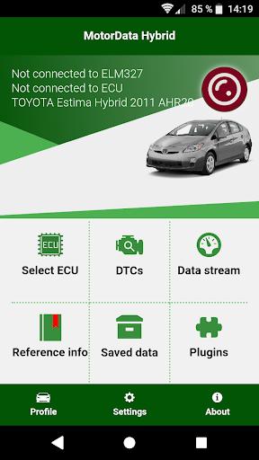 Doctor Hybrid ELM OBD2 scanner. MotorData OBD 1.0.8.33 Screenshots 1