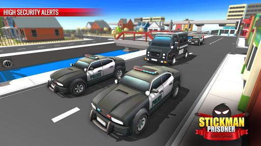US Police Stickman Criminal Plane Transporter Game 4.7 screenshots 6