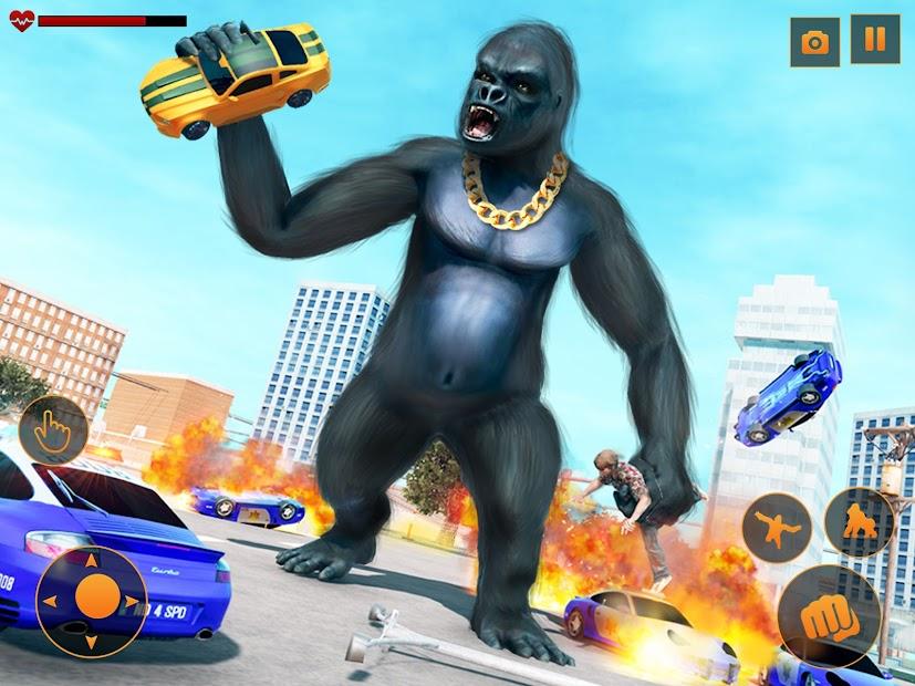 Screenshot 8 de Angry Monster Gorilla - Godzilla King Kong Games para android