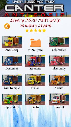 Livery Bussid Mod Truck Canter Anti Gosip  Screenshots 5