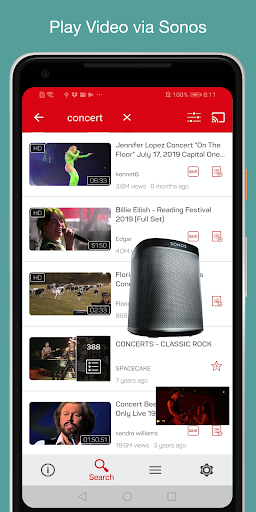 SonosTube - Video Player for Sonos 3.0.9 screenshots 1