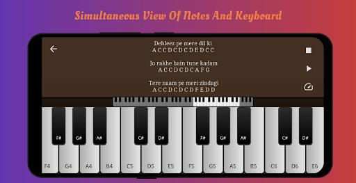 Play Piano : Piano Notes   Keyboard   Hindi Songs 3.9 screenshots 1