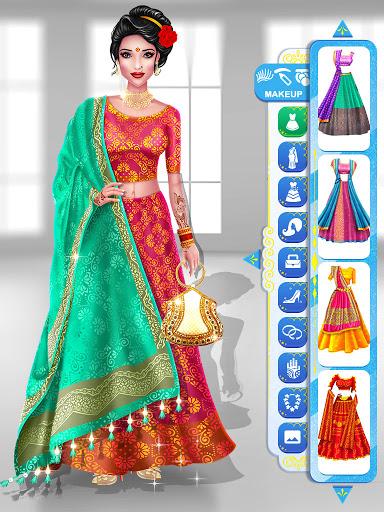 Wedding Fashion Stylist: Indian Dress up & Makeup 1.0 screenshots 3