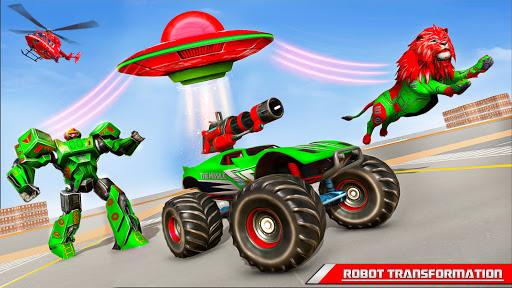 Space Robot Transport Games - Lion Robot Car Game screenshots 13