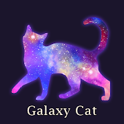 Beautiful Wallpaper Galaxy Cat Theme