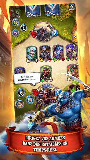 Télécharger Mighty Heroes: Multiplayer PvP Card Battles  APK MOD (Astuce) screenshots 1