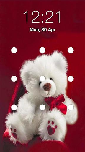 teddy bear pattern lock screen screenshot 1