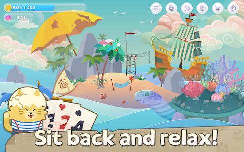 Solitaire Cat Islands Mod Apk (Unlimited Bonuses and Stars) 5