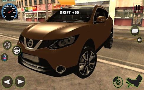 Araba Simülatörü 2021 : Qashqai Drift ve sürücü Apk İndir 5