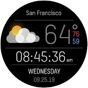 Weather Black Premium Watch Face