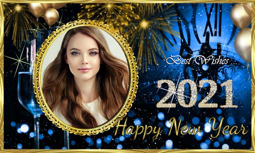 Happy New Year 2021 Photo Frames Greeting Wishes 1.0.1 Screenshots 7