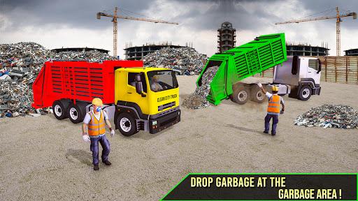 modern trash truck simulator game -free games 2021 screenshot 1