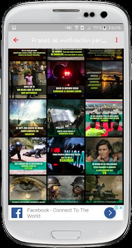 Frases motivadoras de policu00edas screenshots 2