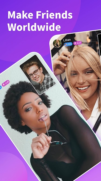 Chamet - Live Video Chat & Meet & Party Rooms poster 0