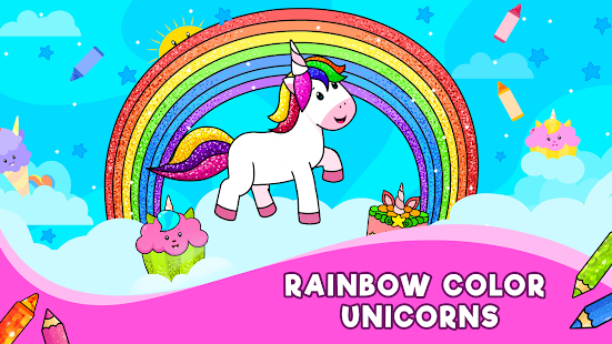 Unicorn Glitter Coloring Book Coloring Unicorn Apps On Google Play