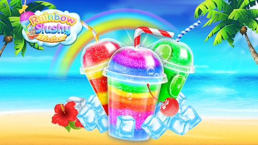 Rainbow Frozen Slushy Truck: Ice Candy Slush Maker screenshots 1